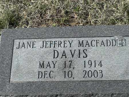 JEFFREY MACFADDEN, JANE - Arkansas County, Arkansas | JANE JEFFREY MACFADDEN - Arkansas Gravestone Photos
