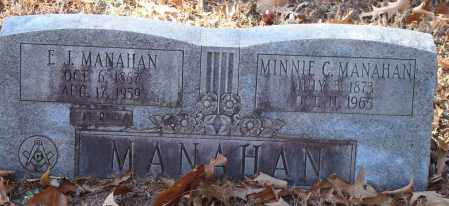 MANAHAN, E.J. - Arkansas County, Arkansas   E.J. MANAHAN - Arkansas Gravestone Photos