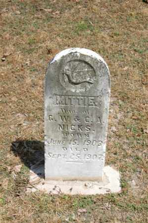 NICKS, MITTIE - Arkansas County, Arkansas | MITTIE NICKS - Arkansas Gravestone Photos