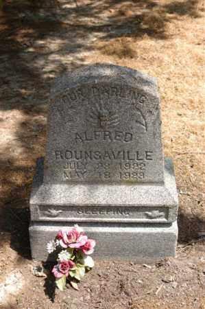 ROUNSAVILLE, ALFRED - Arkansas County, Arkansas | ALFRED ROUNSAVILLE - Arkansas Gravestone Photos