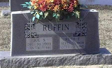 RUFFIN, JOE S - Arkansas County, Arkansas | JOE S RUFFIN - Arkansas Gravestone Photos