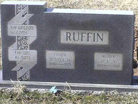 RUFFIN, OLA V - Arkansas County, Arkansas | OLA V RUFFIN - Arkansas Gravestone Photos