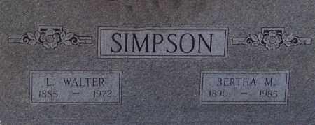 SIMPSON, BERTHA - Arkansas County, Arkansas   BERTHA SIMPSON - Arkansas Gravestone Photos