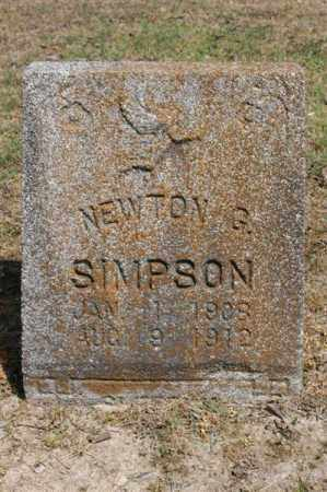 SIMPSON, NEWTON G - Arkansas County, Arkansas | NEWTON G SIMPSON - Arkansas Gravestone Photos