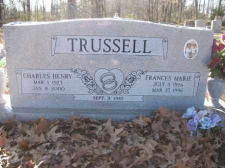 TRUSSELL, FRANCES MARIE - Arkansas County, Arkansas   FRANCES MARIE TRUSSELL - Arkansas Gravestone Photos