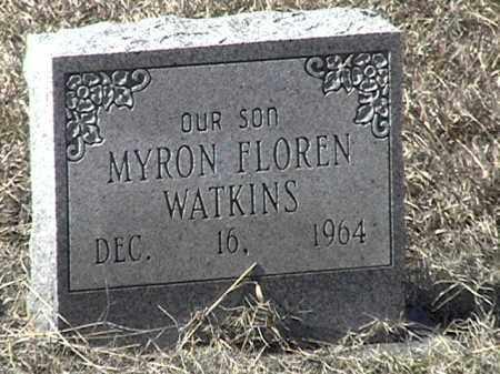 WATKINS, MYRON FLOREN - Arkansas County, Arkansas | MYRON FLOREN WATKINS - Arkansas Gravestone Photos