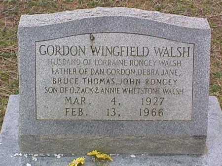 WALSH, GORDON WINGFIELD - Ashley County, Arkansas | GORDON WINGFIELD WALSH - Arkansas Gravestone Photos