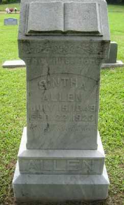 DILLON ALLEN, SINTHA ARRILLA - Ashley County, Arkansas | SINTHA ARRILLA DILLON ALLEN - Arkansas Gravestone Photos