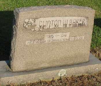 BAKER, CLINTON W. - Ashley County, Arkansas | CLINTON W. BAKER - Arkansas Gravestone Photos