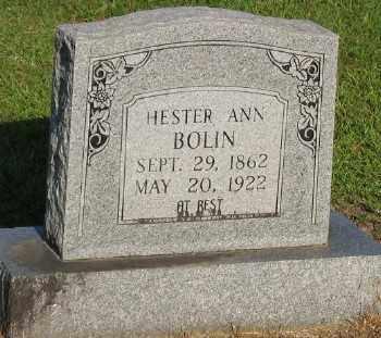 BOLIN, HESTER ANN - Ashley County, Arkansas | HESTER ANN BOLIN - Arkansas Gravestone Photos