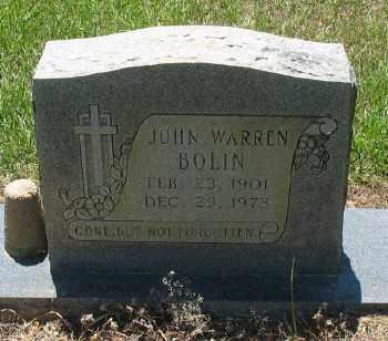 BOLIN, JOHN WARREN - Ashley County, Arkansas | JOHN WARREN BOLIN - Arkansas Gravestone Photos