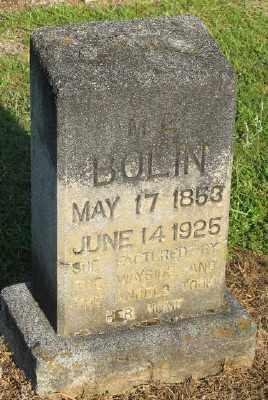BOLIN, M. E. - Ashley County, Arkansas   M. E. BOLIN - Arkansas Gravestone Photos
