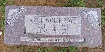 BOYD, ARTIE WOLFE - Ashley County, Arkansas | ARTIE WOLFE BOYD - Arkansas Gravestone Photos