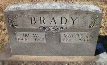 NOLAND BRADY, MATTIE J - Ashley County, Arkansas | MATTIE J NOLAND BRADY - Arkansas Gravestone Photos