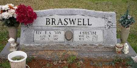 BRASWELL, H. A. - Ashley County, Arkansas | H. A. BRASWELL - Arkansas Gravestone Photos