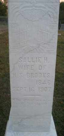 BROOKS, SALLIE H. - Ashley County, Arkansas | SALLIE H. BROOKS - Arkansas Gravestone Photos