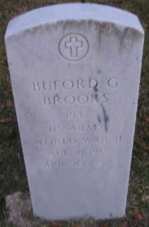 BROOKS (VETERAN WWII), BUFORD G - Ashley County, Arkansas | BUFORD G BROOKS (VETERAN WWII) - Arkansas Gravestone Photos