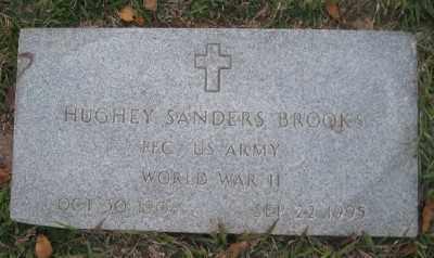 BROOKS (VETERAN WWII), HUGHEY SANDERS - Ashley County, Arkansas | HUGHEY SANDERS BROOKS (VETERAN WWII) - Arkansas Gravestone Photos