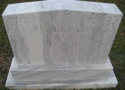 HUDSON CANNON, VERA B. - Ashley County, Arkansas | VERA B. HUDSON CANNON - Arkansas Gravestone Photos