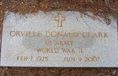CLARK (VETERAN WWII), ORVILLE DONALD - Ashley County, Arkansas   ORVILLE DONALD CLARK (VETERAN WWII) - Arkansas Gravestone Photos