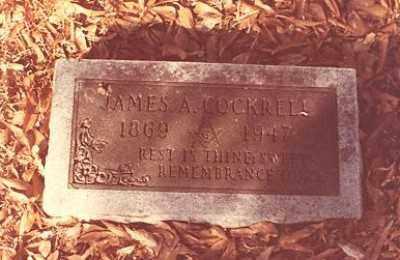 COCKRELL, JAMES ARCHIBALD - Ashley County, Arkansas | JAMES ARCHIBALD COCKRELL - Arkansas Gravestone Photos