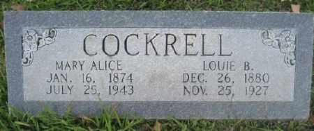 COCKRELL, MARY ALICE - Ashley County, Arkansas   MARY ALICE COCKRELL - Arkansas Gravestone Photos