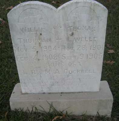COCKRELL, WILLIE - Ashley County, Arkansas | WILLIE COCKRELL - Arkansas Gravestone Photos