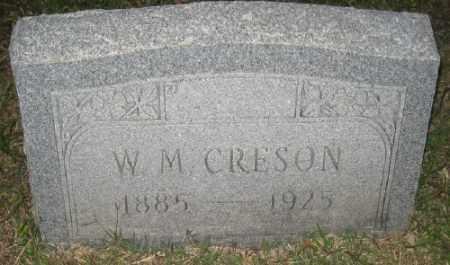 CRESON, W. M. - Ashley County, Arkansas | W. M. CRESON - Arkansas Gravestone Photos