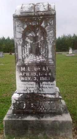 DEAL, M L - Ashley County, Arkansas | M L DEAL - Arkansas Gravestone Photos