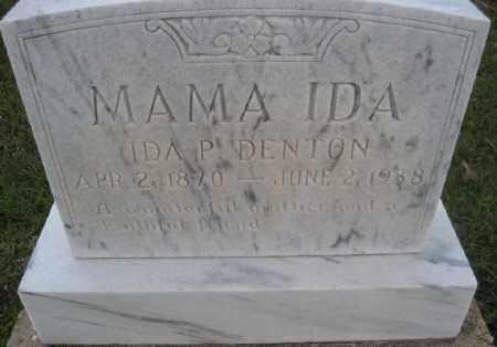 DENTON, IDA P. - Ashley County, Arkansas | IDA P. DENTON - Arkansas Gravestone Photos