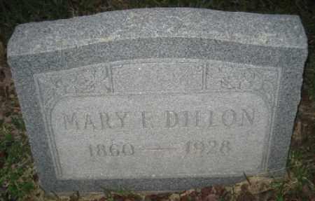 DILLON, MARY F. - Ashley County, Arkansas | MARY F. DILLON - Arkansas Gravestone Photos