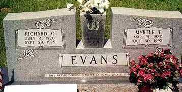 EVANS, RICHARD COLLINS - Ashley County, Arkansas | RICHARD COLLINS EVANS - Arkansas Gravestone Photos