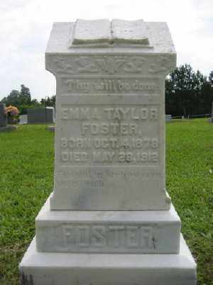 TAYLOR FOSTER, EMMA - Ashley County, Arkansas | EMMA TAYLOR FOSTER - Arkansas Gravestone Photos