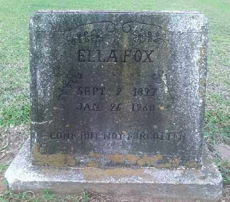 FOX, ELLA - Ashley County, Arkansas | ELLA FOX - Arkansas Gravestone Photos