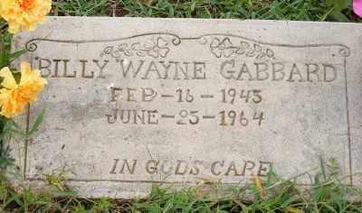 GABBARD, BILLY WAYNE - Ashley County, Arkansas   BILLY WAYNE GABBARD - Arkansas Gravestone Photos