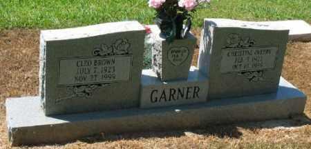 GARNER, CLEO BROWN - Ashley County, Arkansas | CLEO BROWN GARNER - Arkansas Gravestone Photos