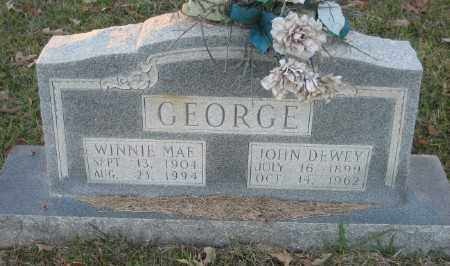 GEORGE, JOHN DEWEY - Ashley County, Arkansas | JOHN DEWEY GEORGE - Arkansas Gravestone Photos