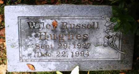 HUGHES, WILEY RUSSELL - Ashley County, Arkansas | WILEY RUSSELL HUGHES - Arkansas Gravestone Photos