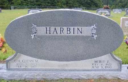 HARBIN, GLENN M. - Ashley County, Arkansas | GLENN M. HARBIN - Arkansas Gravestone Photos