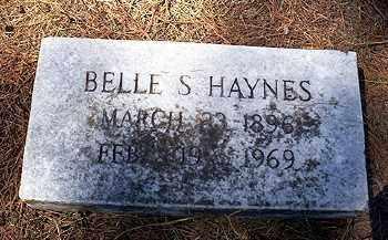 HAYNES, BELLE S. - Ashley County, Arkansas | BELLE S. HAYNES - Arkansas Gravestone Photos