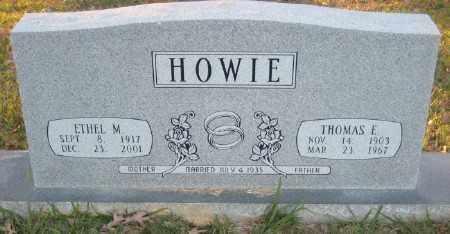 HOWIE, ETHEL M. - Ashley County, Arkansas | ETHEL M. HOWIE - Arkansas Gravestone Photos