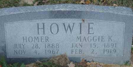 HOWIE, MAGGIE K. - Ashley County, Arkansas | MAGGIE K. HOWIE - Arkansas Gravestone Photos