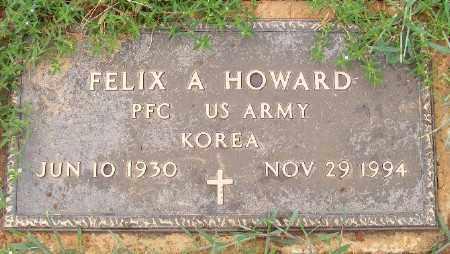 HOWARD (VETERAN KOR), FELIX A - Ashley County, Arkansas   FELIX A HOWARD (VETERAN KOR) - Arkansas Gravestone Photos