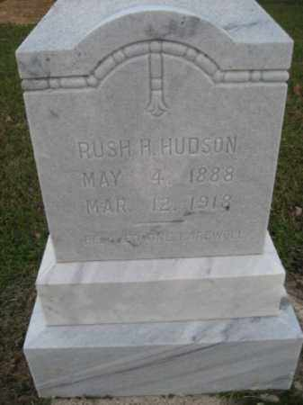HUDSON, RUSH H - Ashley County, Arkansas | RUSH H HUDSON - Arkansas Gravestone Photos