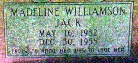 JACK, MADELINE - Ashley County, Arkansas | MADELINE JACK - Arkansas Gravestone Photos
