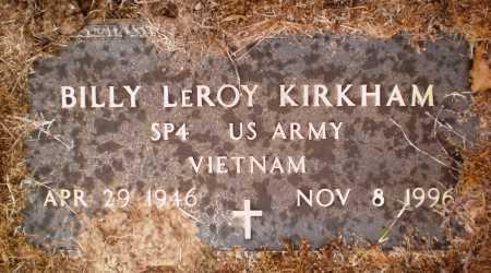 KIRKHAM (VETERAN VIET), BILLY LEROY - Ashley County, Arkansas | BILLY LEROY KIRKHAM (VETERAN VIET) - Arkansas Gravestone Photos