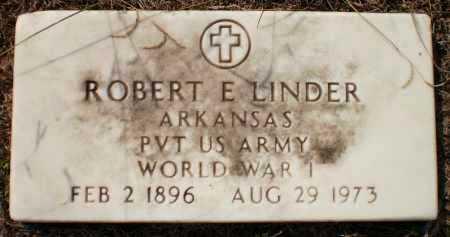 LINDER (VETERAN WWI), ROBERT E - Ashley County, Arkansas   ROBERT E LINDER (VETERAN WWI) - Arkansas Gravestone Photos