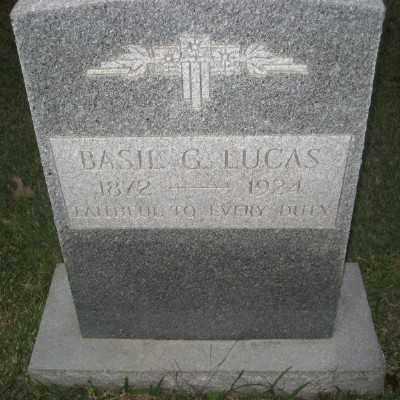 LUCAS, BASIL G. - Ashley County, Arkansas   BASIL G. LUCAS - Arkansas Gravestone Photos