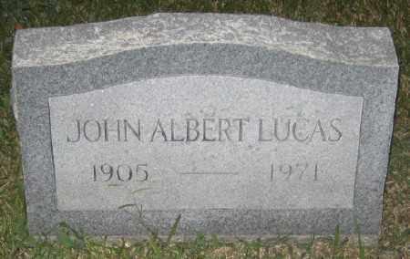 LUCAS, JOHN ALBERT - Ashley County, Arkansas | JOHN ALBERT LUCAS - Arkansas Gravestone Photos