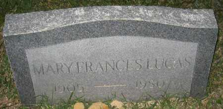 LUCAS, MARY FRANCES - Ashley County, Arkansas | MARY FRANCES LUCAS - Arkansas Gravestone Photos
